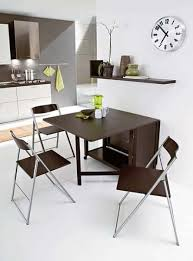 modern folding dining table with folding chairs practical