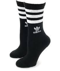 adidas roller black crew socks zumiez