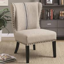 Grey Patterned Accent Chair 902496 Accent Chair Set Of 2 In Grey Fabric By Coaster