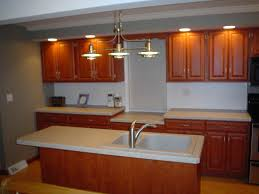 kitchen recessed lighting with wooden reface kitchen cabinets