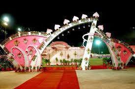 indian wedding decorations with flowers decorating of party
