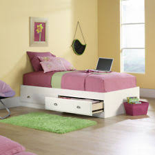 Twin Size Bed Frame With Drawers Bed Frame With Drawers Ebay