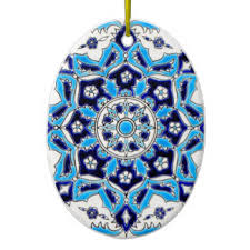 blue and white pottery ornaments keepsake ornaments zazzle