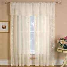 Single Panel Window Curtain Designs Sheer Addison 52 In W X 84 In L Rod Pocket Sheer Single Panel