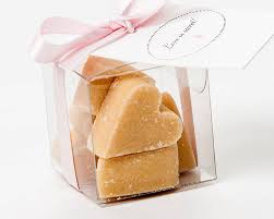 wedding favours scottish tablet heart wedding favour by phil rao studio two