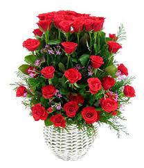 flower baskets my basket 52 roses basket delivered