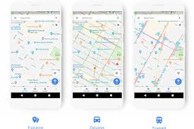 google maps updates its color scheme to make it easier to identify