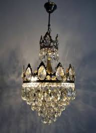 Cheap Chandeliers Ebay Vintage Brass And Crystal Small Basket Chandelier Ebay D E C O