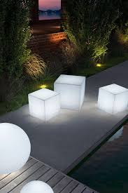 Illuminating Coffee Table Illuminated Light Cubes Great To Use Outdoors As Seating Stools