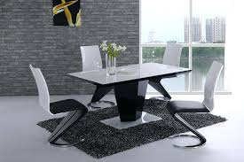 black dining table chairs high gloss dining room chairs hotrun