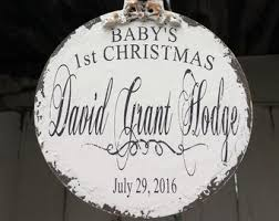 Custom Baby Ornaments Baby U0027s First Christmas Ornament Personalized Christmas