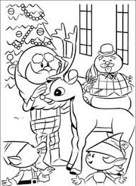 rudolph the red nosed reindeer coloring picture christmas for