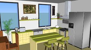 render google sketchup kitchen also with u shape kitchen design