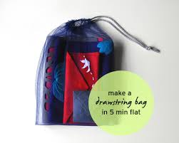 tulle bags a tulle drawstring bag in 5 min flat