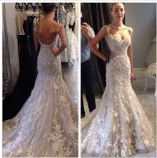 low back wedding dresses real photos lace flowers satin low back mermaid wedding