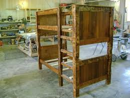 Barnwood Bunk Beds Made On Reclaimed Barnwood Bunk Bed By Ireland S