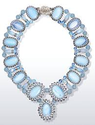 crystal bead necklace images Tutorial collar style necklace with moonstone beads crystal jpg