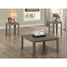 monarch specialties coffee table monarch specialties dark taupe 3 piece nesting end side table set i