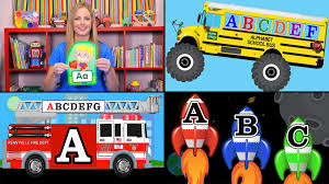 monster truck videos for toddlers learning the alphabet collection learn abcs fire trucks