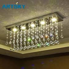 wrought iron foyer light contemporary led luster crystal chandelier interior curtain wave