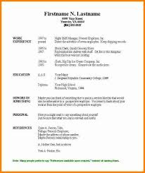 Resume Template Basic by Free Basic Resume Templates Microsoft Word Yun56 Co