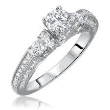 10 karat diamond ring 1 1 10 carat t w cut diamond engagement ring 10k