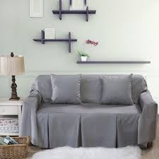Best Slipcover Sofa by L Shaped Sofa Cover For Home Grey Blue Sofa Slipcover Couch Cover