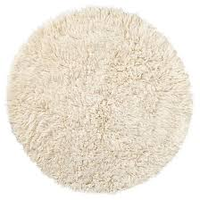 White Round Rugs Consider Adding The Flokati Fluff Rug Round For Some Added