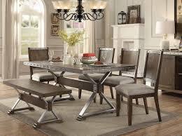 beckett dining table 107011 in dark oak by coaster w options