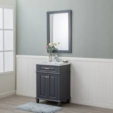grey finish bathroom vanities vanity cabinets shop the best