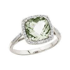 green amethyst engagement ring cushion cut green amethyst diamond engagement ring