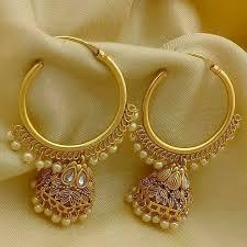 golden earrings golden earrings with pearl finish ear accessories