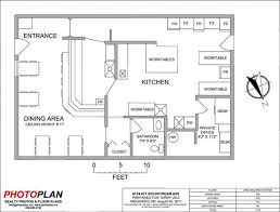 simple restaurant layout home design tag for of kitchen stunning