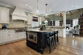 kitchen in luxury home with white cabinetry stock photo picture kitchen in luxury home with white cabinetry stock photo 14976229