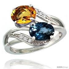 topaz gemstone rings images 14k white gold 8x6 mm double stone engagement london blue jpg