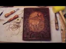 making a leather book cover youtube