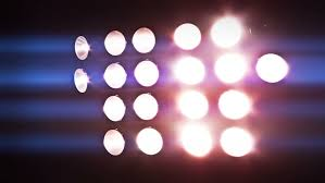 football sports stadium lights kicking on in a montage of various