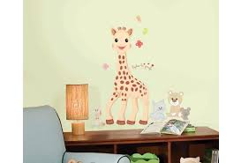stickers girafe chambre bébé roommates