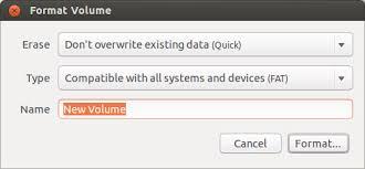 format as fat32 ubuntu how to format a usb flash drive ask ubuntu