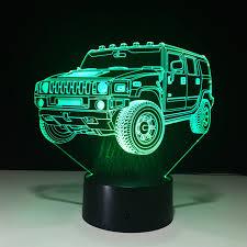t駘騅ision pour chambre voiture acrylique 3d stéréo vision le lumière de nuit 7