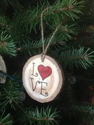 christmas tree joy woodburned ornament christmas tree ornament