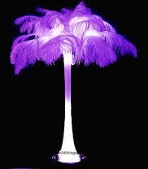 wedding centerpiece white ostrich feather spray shopwildthings