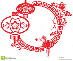 chinese design chinese new year and mid autumn festival frame stock vector