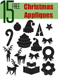 christmas applique 15 free christmas appliqué designs the sewing loft