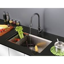 ruvati rvf1251rb pullout spray single handle kitchen faucet u2013 oil