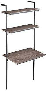 wall mounted desk amazon amazon com holly martin haeloen wall mount desk 30 wide burnt
