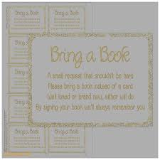 bring a book instead of a card wording baby shower invitation inspirational baby shower invitation