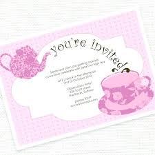bridal tea party invitations tea party invitation templates free meichu2017 me