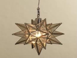 great glass star pendant light 61 for casablanca ceiling fan light