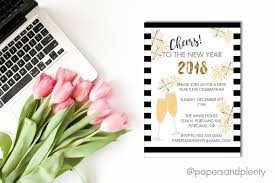 2018 new year u0027s eve party invite cheers to the new year